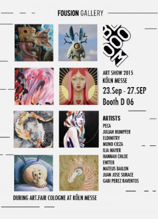 Blooom Art Show at Art Fair Cologne 2015 – Fousion Gallery – Flyer