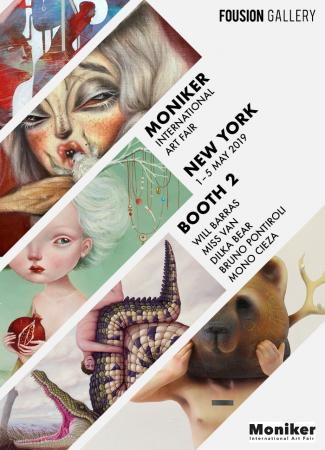 Fousion Gallery – Moniker Art Fair New York 2019  – Flyer