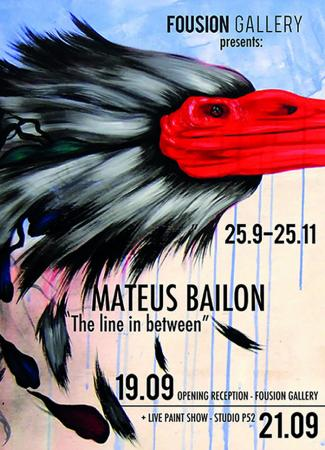 Mateus Bailon: The Line In Between – Fousion Gallery – Flyer