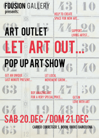 Flyer – Let Art Out – Fousion Gallery