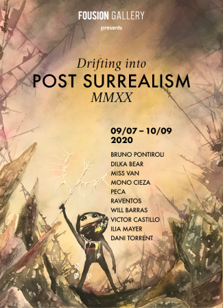 Flyer – Drifting Into Post Surrealism – Fousion Gallery