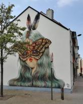 "Mural ""Moth Muse"" by Miss Van  – Belguim"