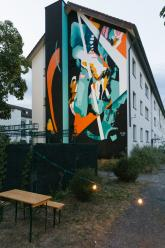 Julia Benz Mural at Metropolink Festival 2019, Heidelberg, Germany