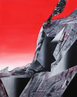 Phil Ashcroft – Combe Martin Catalina Red Study – Fousion Gallery
